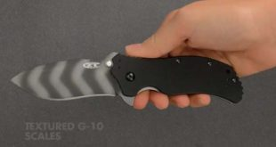 Zero Tolerance ZT0350TS G10 Handle Folding Tiger Striped Blade