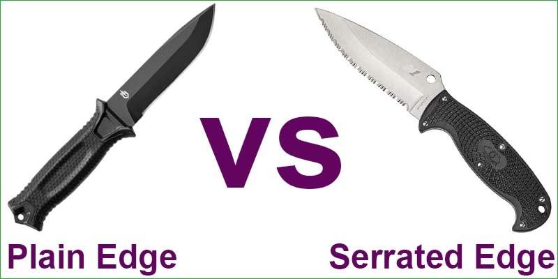 Plain Edge vs Serrated Edge Knife